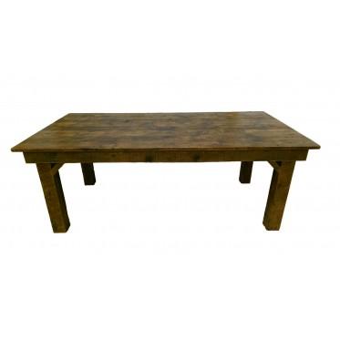 Reclaimed Barn Wood Farmhouse Dining Table White Cedar Barnwood