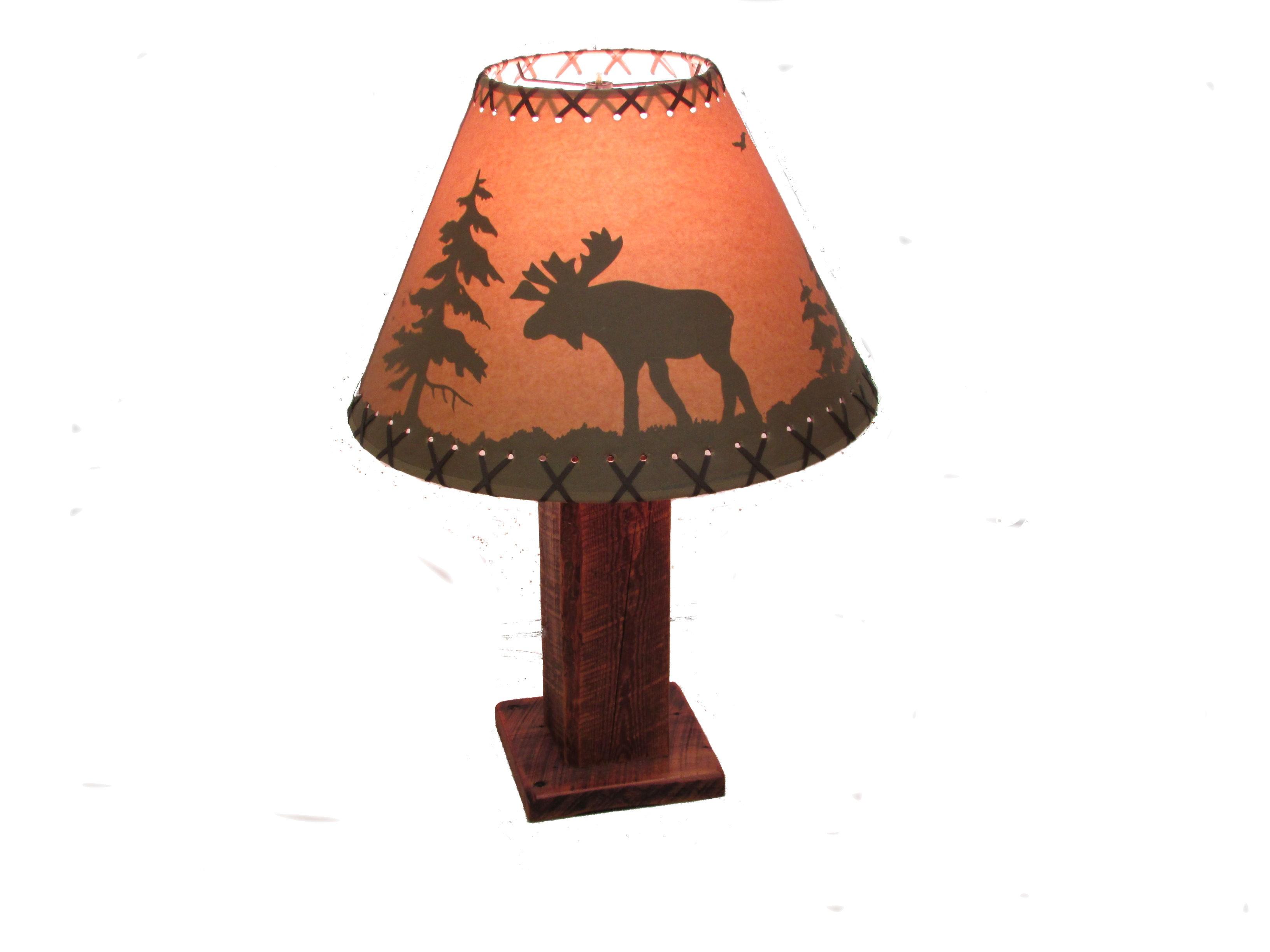 Reclaimed Barn Wood Table Lamp White Cedar Barnwood