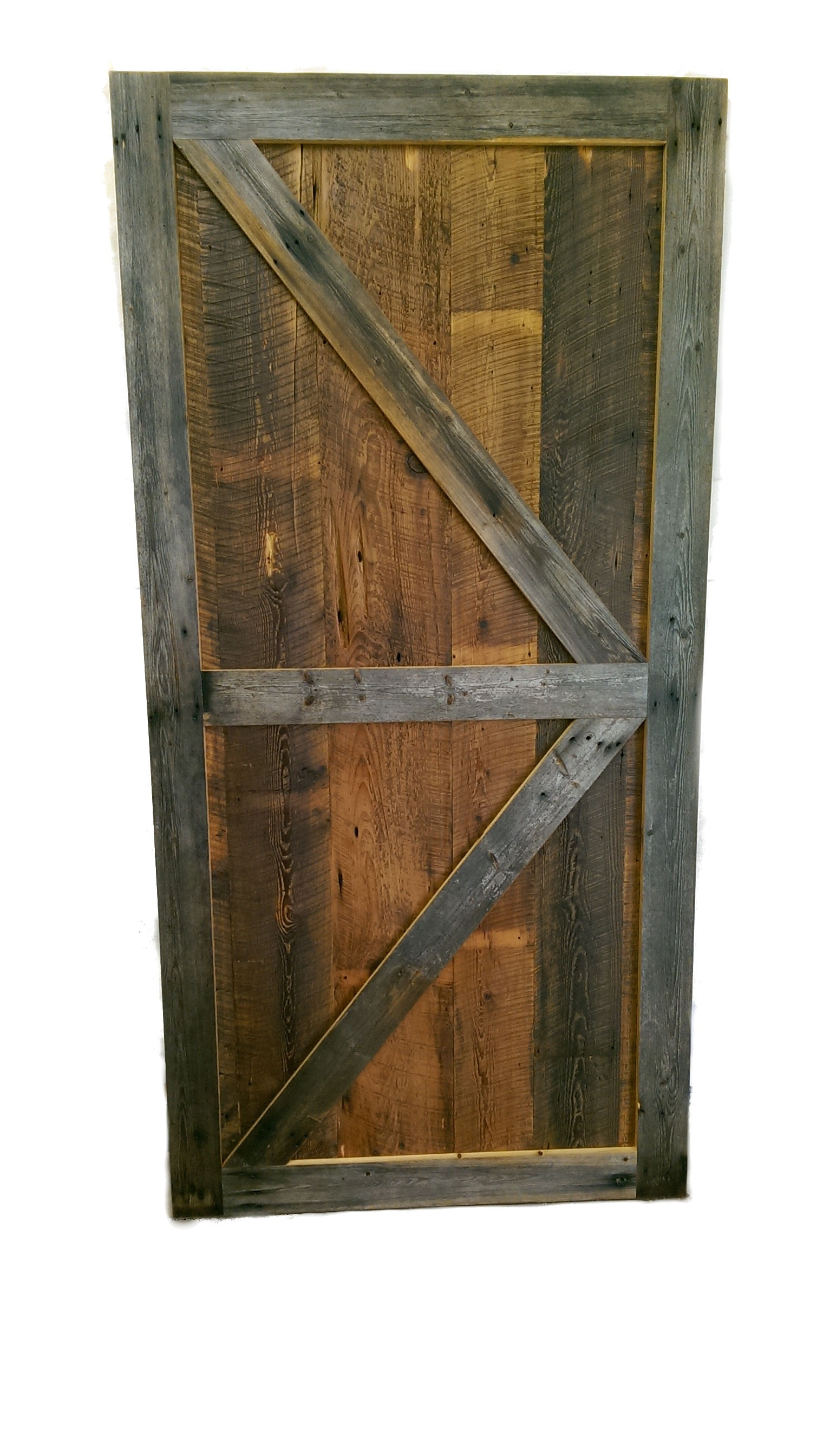 Reclaimed barn wood sliding door white cedar barnwood for Barnwood pocket door