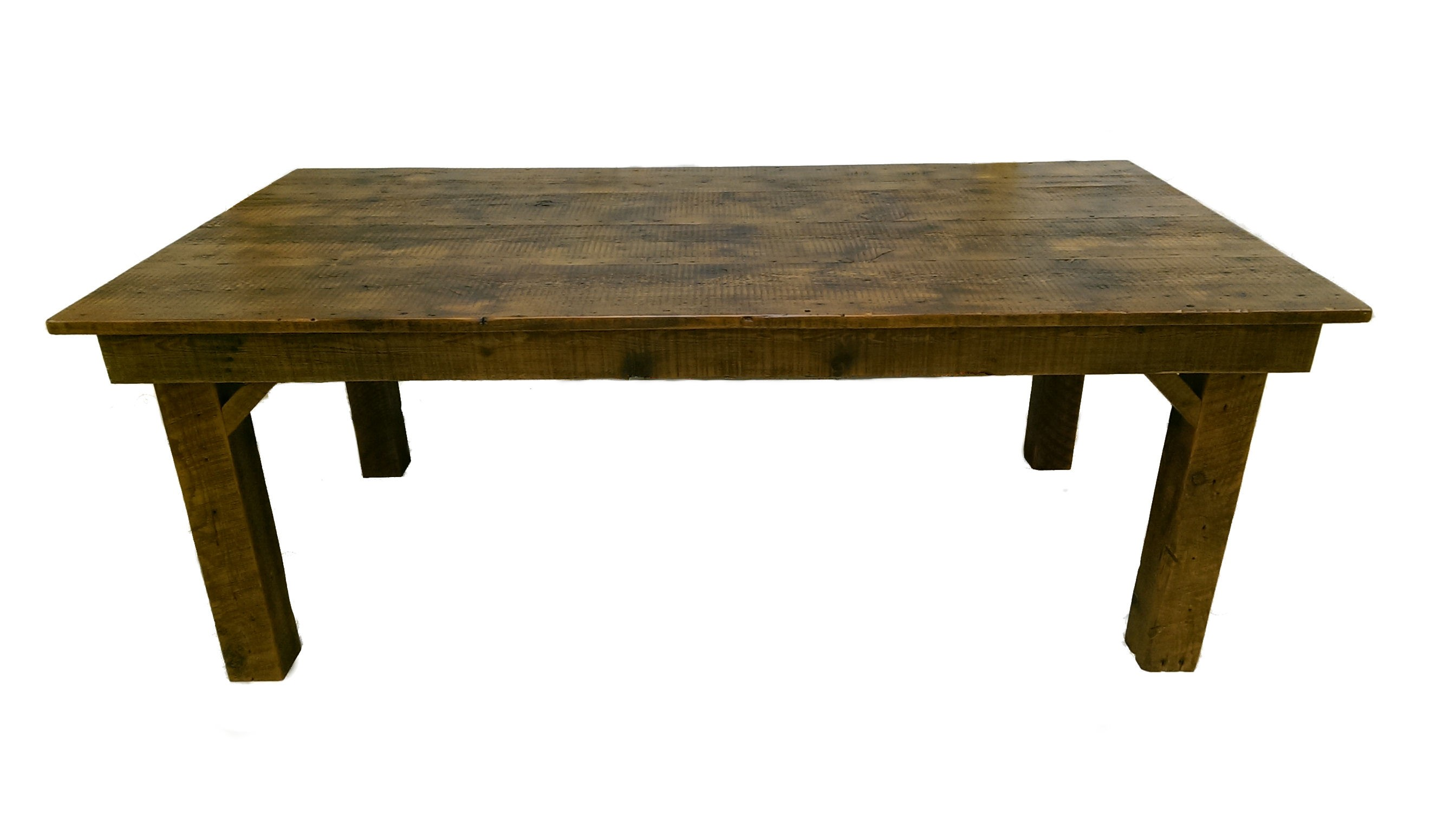 Reclaimed barn wood farmhouse dining table white cedar for Reclaimed dining room table