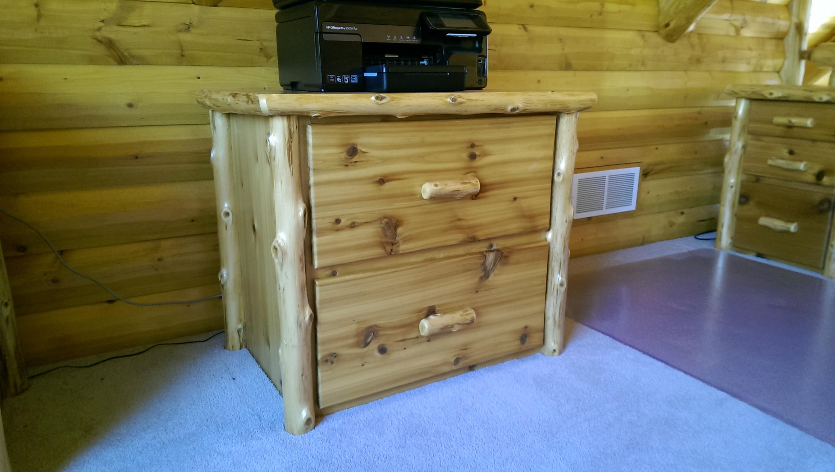 Log 2 Drawer Wide File Cabinet ...
