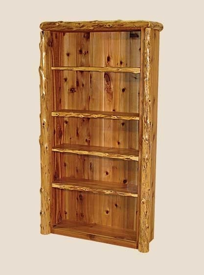 log office shelf log furniture white cedar barnwood
