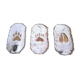 Birch Bark Footprint Mirrors