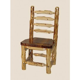 Log Ladder Back Dining Chair
