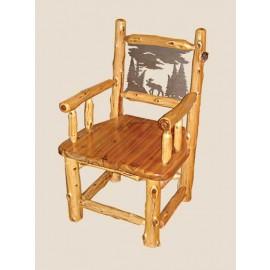 Log Metal Back Dining Chairs