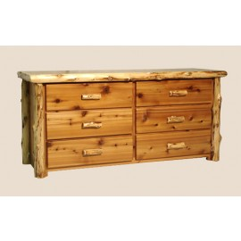 Log Six-Drawer Dresser