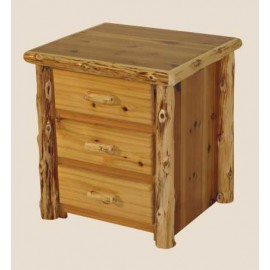 Log Three-Drawer Night Stand