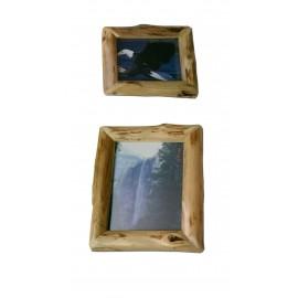 Log Style mitered corner picture frame