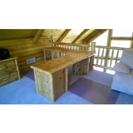 Log L Shaped Desk