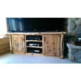 Custom Made Log TV Console
