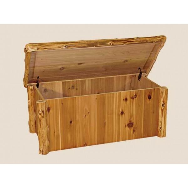 Cedar Log Bedroom Furniture | White Cedar | Barnwood