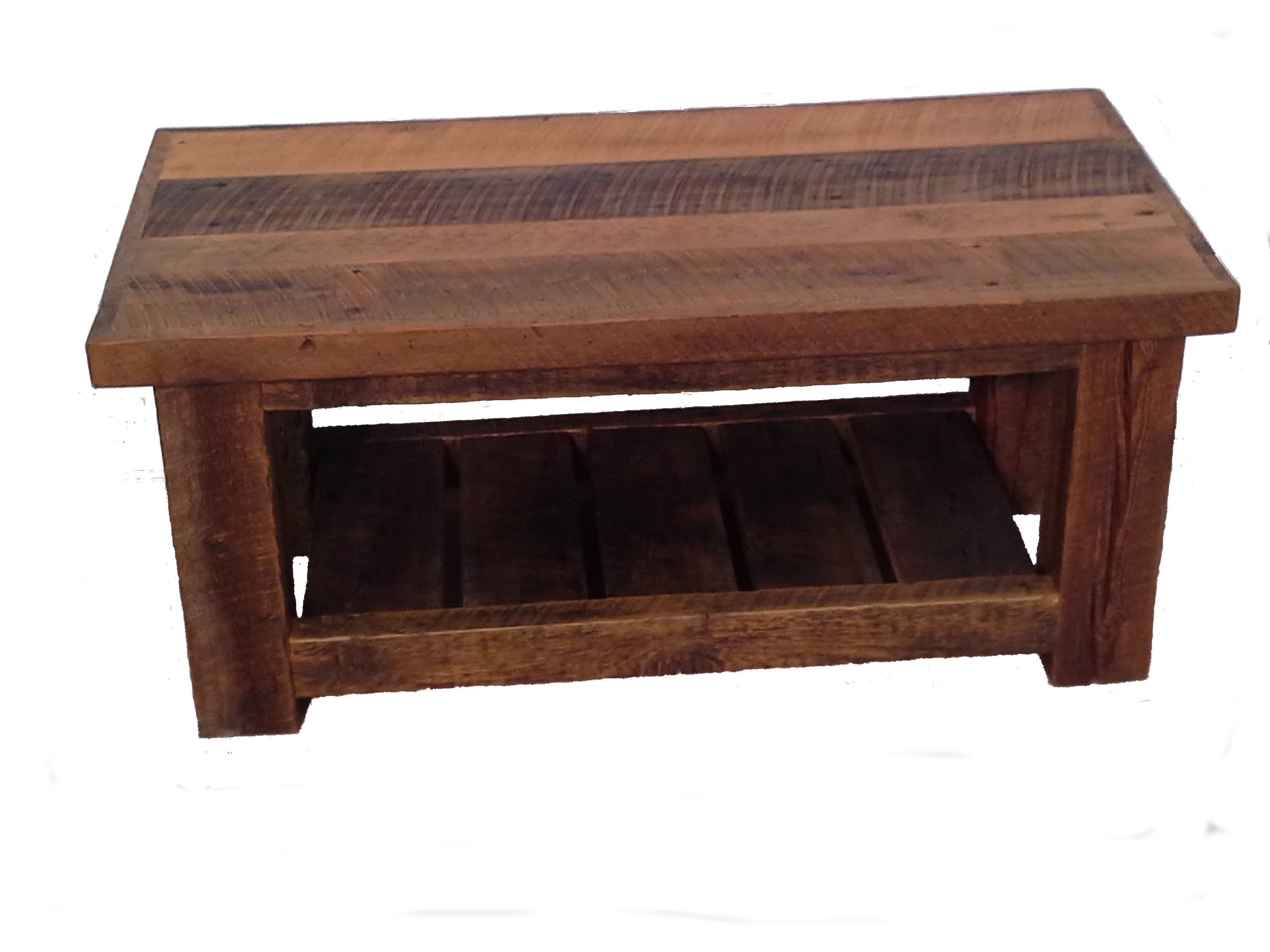 Reclaimed barn wood coffee table white cedar barnwood for Reclaimed coffee table