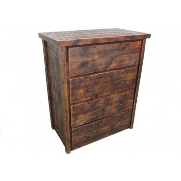 Reclaimed Barn Wood Four Drawer Dresser