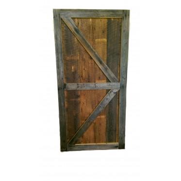 Reclaimed Barn Wood Sliding Door Style 5