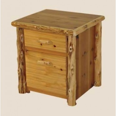 Log Two-Drawer File Cabinet