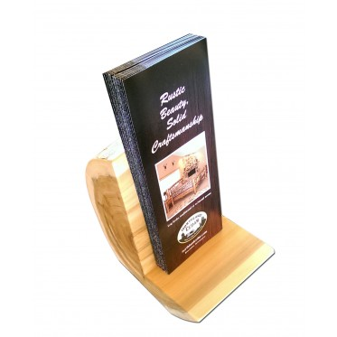 Log small brochure holder/display
