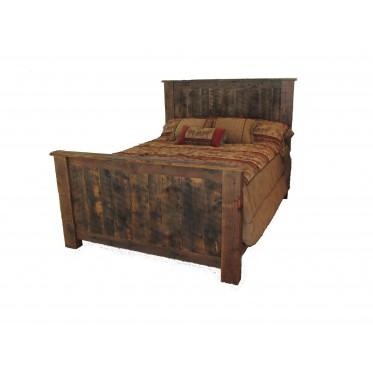 Reclaimed Barn Wood Panel Bed