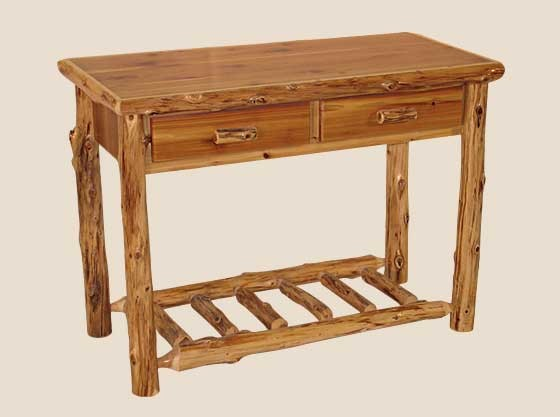 Cool Log Edged Sofa Table With Two Drawers White Cedar Barnwood Alphanode Cool Chair Designs And Ideas Alphanodeonline