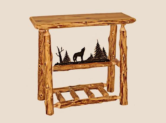 Remarkable Log Edged Sofa Table Log Furniture White Cedar Barnwood Alphanode Cool Chair Designs And Ideas Alphanodeonline
