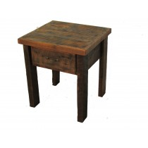Reclaimed Barn Wood One Drawer End Table