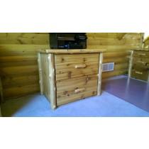 Log 2 Drawer Wide File Cabinet