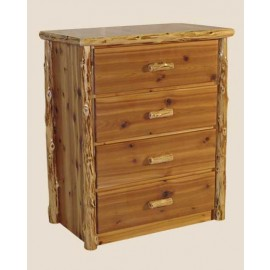 Log Four-Drawer Dresser