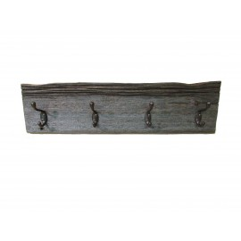 Reclaimed Barn Wood Coat Rack Weathered/Grey