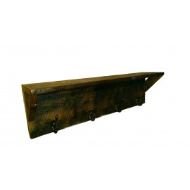 Reclaimed Barn Wood Coat rack With Shelf
