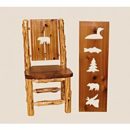 Log Cut-Out Back Dining Chair