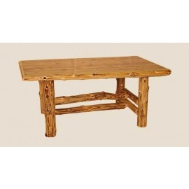 Log-Edged Dining Table