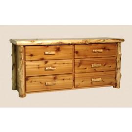 Log Six-Drawer Dresser