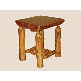 Half-Log End Table