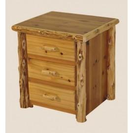 Log Three-Drawer Night Stand