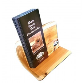Log Large brochure holder