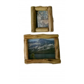 Logger style un-mitered  corner picture frame