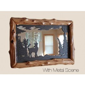 Log Mirror Frames With Metal Scene